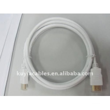 Blanco Cable HDMI cobre, Cable HDMI Premium Ethernet para HDTV, Blanco, cable de 1,5 m