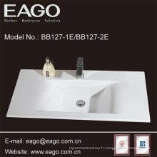 Évier de salle de bains en céramique semi-compteur de mode (BB127-2E)