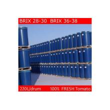 Pasta de tomate Concentración de embalaje de tambor 36-38% CB / Hb (marca Chalkis)
