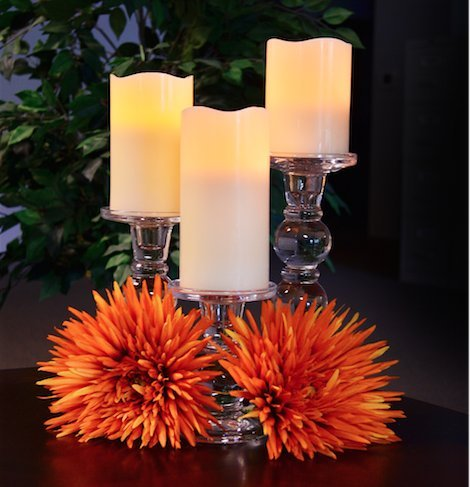 Set lilin LED flameless elegan