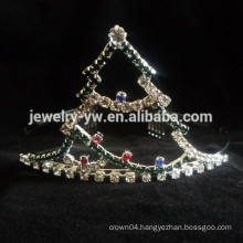 wholesale hair accessories crystals christmas tree tiara and crown headband