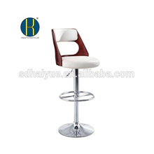 HY2027H Wholesale high quality adjustable height leather restaurant bar stool