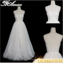 Tiamero заказ проспективное без бретелек кружева линии спинки свадебное платье невесты платье