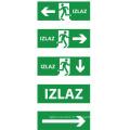 Enseignes de sortie, éclairage de secours, urgence LED sortie signe, éclairage de sortie, sortie LED