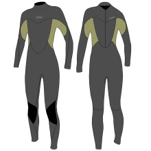 Seaskin Zipper Pull Fullsuit Mergulho Wetsuits