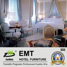 Weiße Farbe Luxus Hotel Schlafzimmer Möbel Set (EMT-SKB16)