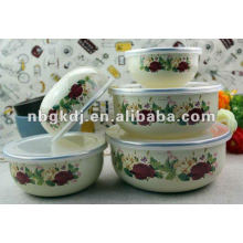 enamel dinnerware sets with PP lid