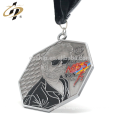 Free sample antique silver 3D emboss running finisher medals with custom