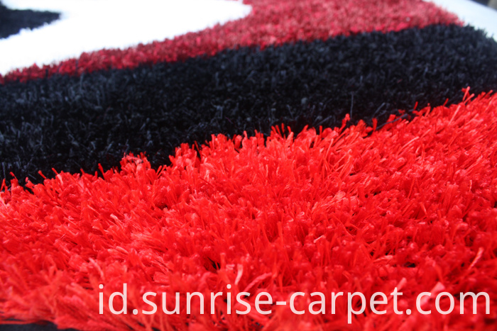 Polyester mixed Shaggy Rug with Design