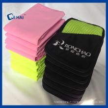 Tissu de tissu en suède solide en microfibre imprimé (QED55012)