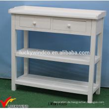 Feste gemalte französische Holzkonsole Weißer Tisch
