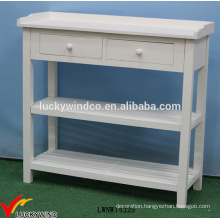Solid Painted French Wood Console White Table
