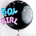Baby Shower Decorations Gender Neutral Party Balloons Cannons with Pink and Blue and Multi-colored Confetti