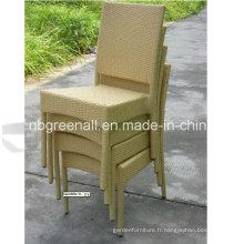 Chaise empilable en plastique pour chaise en osier pour jardin