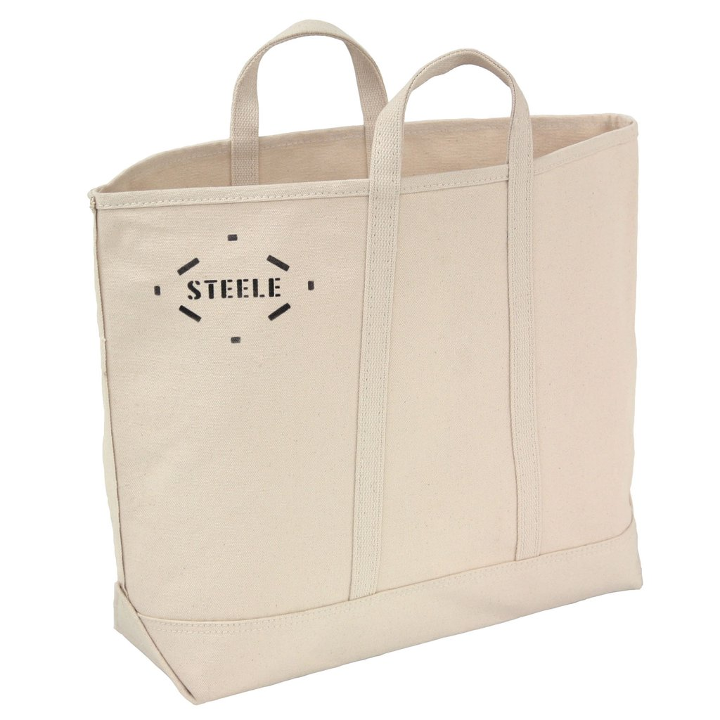 natural open canvas bag