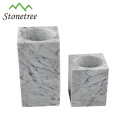 Top fashion design bathroom marble toilet brush set
