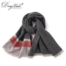 Bufanda real de la cachemira de la bufanda de la cachemira de la capacidad verdadera del 100% para los hombres
