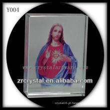 Cristal de impressão colorido religiosoRetrato Y004
