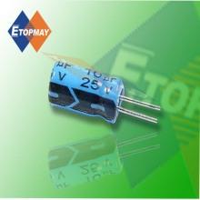 Condensador electrolítico de aluminio de tamaño Mini de Topmay