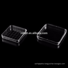 disposable square petri dish 130x130mm