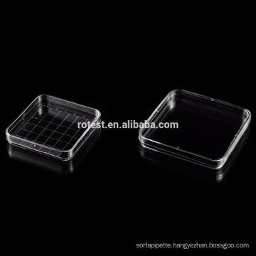 disposable square petri dish 130x130mm