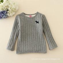 la última camiseta del suéter de los niños de la venta con el terciopelo para el desgaste de los cabritos del invierno