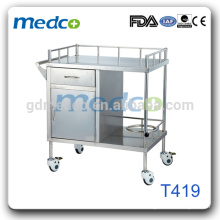 T419 Edelstahl Material medizinische Ausrüstung Trolley