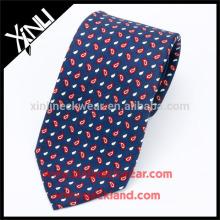 100% Handmade Perfect Knot Chinese Silk Print 7 Fold Necktie