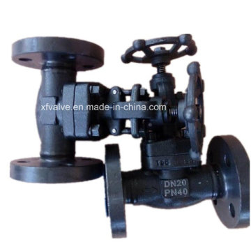Forged Carbon Steel A105 Flange Connection End Globe Valve