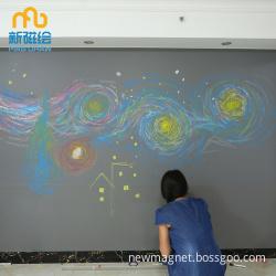 Office Chalkboard Wall/ Gray Chalkboard Wallpaper