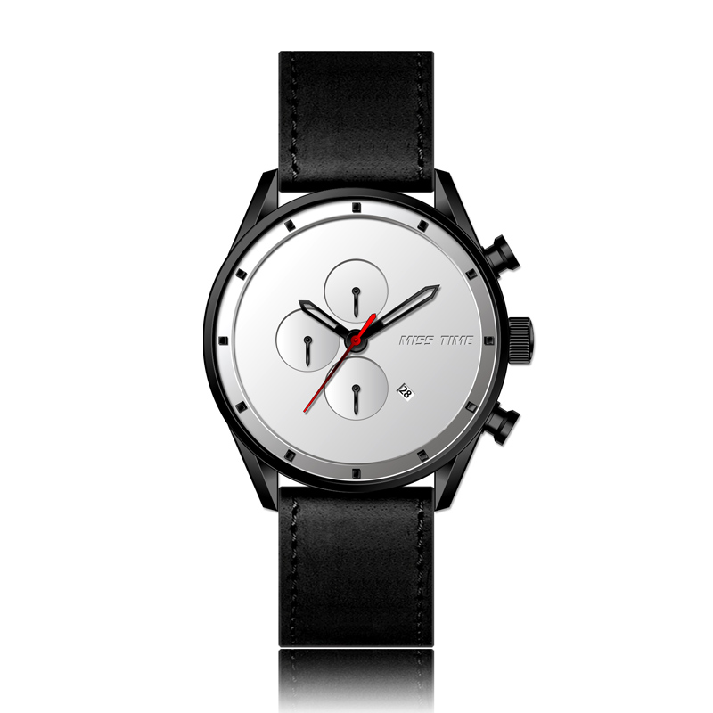 minimalist name brand power bank men watch