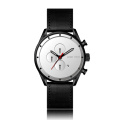 business genuine leather japanese automatic black men watch