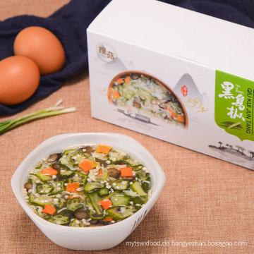 Preiswerter köstlicher gefriertrockneter organischer Okra sofortiger Ei-Suppe