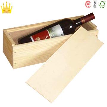 Caja de regalo de madera de vino tinto con precio competitivo