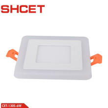 factory price double color panel light led multicolored round recessed surface panel