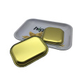 Tin Tray Big Size Hot Sale Rectangle Shape Custom Printing Rolling Smoke