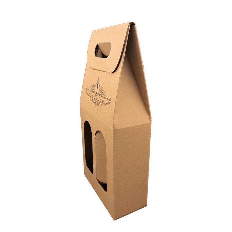 Custom Kraft Paper Packing Single Bottle Wine 2