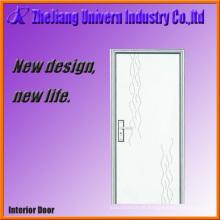 Portas interiores de madeira com revestimento de PVC