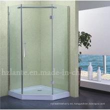 Ducha de alta calidad de montaje recinto de ducha de acero inoxidable con bandeja baja (LTS-011)
