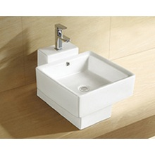 Modern Above Counter White Ceramic Art Basin