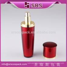 Venda Por Atacado Vazio Cosmético Container E 15ml 30ml 50ml 80ml 120ml Luxo Red Loção Plástica 4 oz Plastic Pump Garrafa