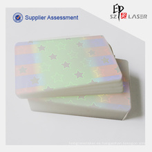 Claro holográfica térmica bolsas de laminación para protección de tarjetas