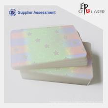 Claro holográfica térmica malotes de laminação para proteção de cartões