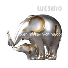Statue d'éléphant de bébé et statue de Polyresin d'éléphant de mère (WTS0005B)