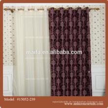 Tecido em relevo canada cortinas tecido para casa fabricada