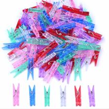 Подгонянный Цвет канцелярские принадлежности, одежду, украшения Пластиковые клипсы и деревянные клип