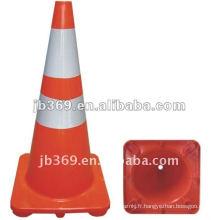 cônes réfléchissants de sécurité routière en PVC