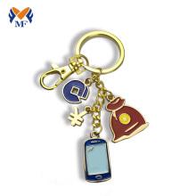 Metal keychain custom logo for phone bank