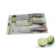 3PCS Красочные пластиковые ручки кухонный нож набор (SE-3545)