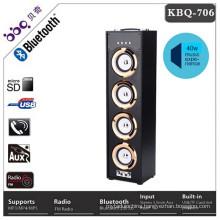 BBQ 40W 5000mAh battery subwoofer audio 2016 Hot Selling Portable Karaoke Wooden Bluetooth Speaker Wireless